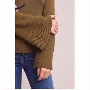 Anthropologie Sweaters - Anthropologie Lilea's as Bell Sleeved Turtleneck